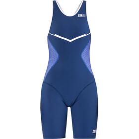 Z3R0D Racer Trisuit Dames, blauw/wit